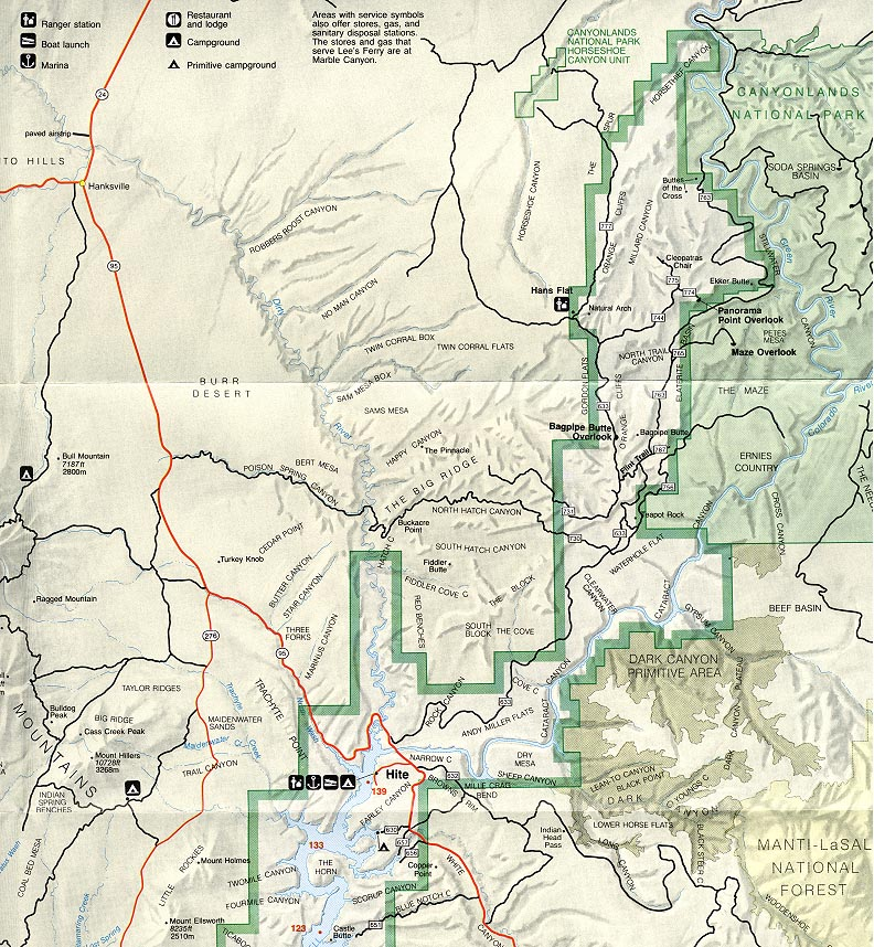Map of Robers Roost Trip Area